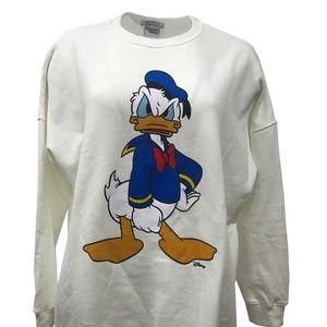 ZARA Disney Donald Duck Sweatshirt Crew neck L